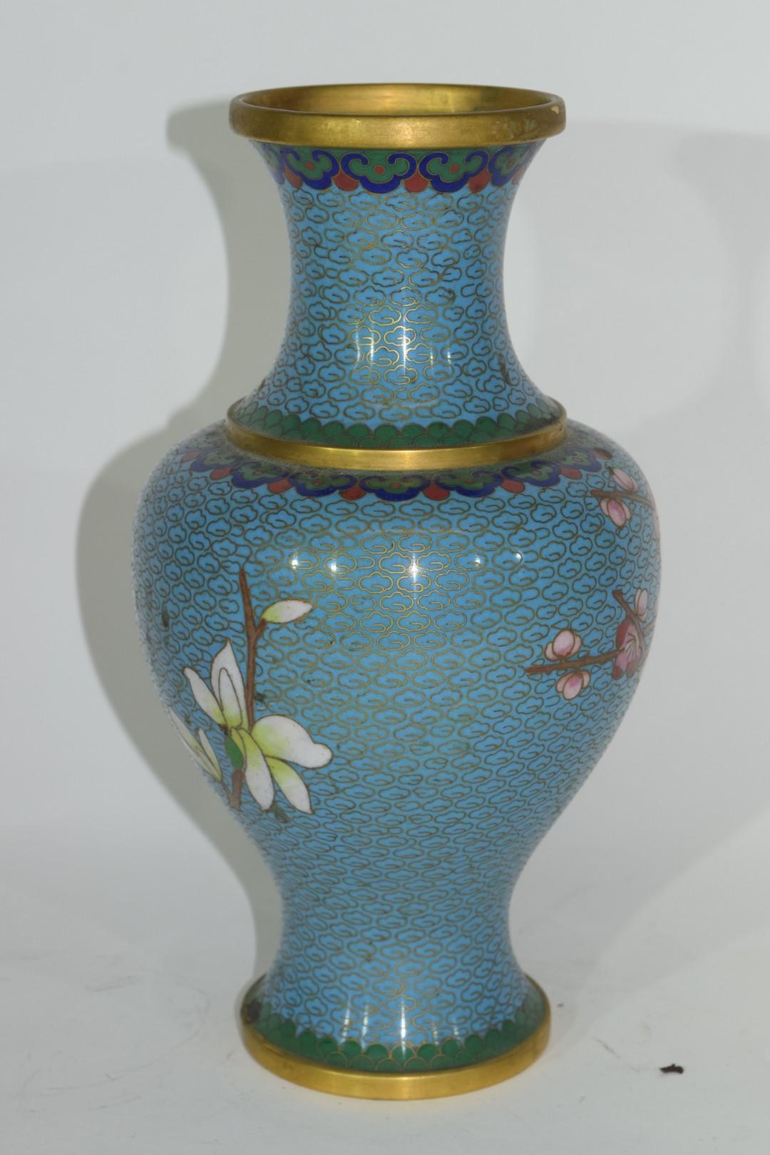 Cloisonne vase - Image 3 of 4