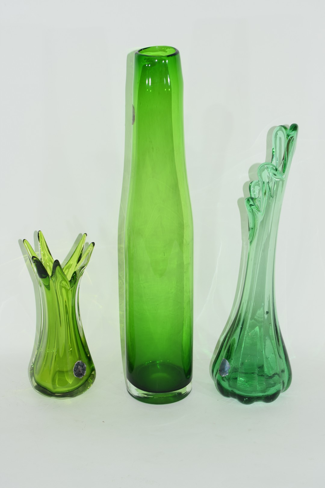Three Swedish Art glass vases - Image 2 of 3