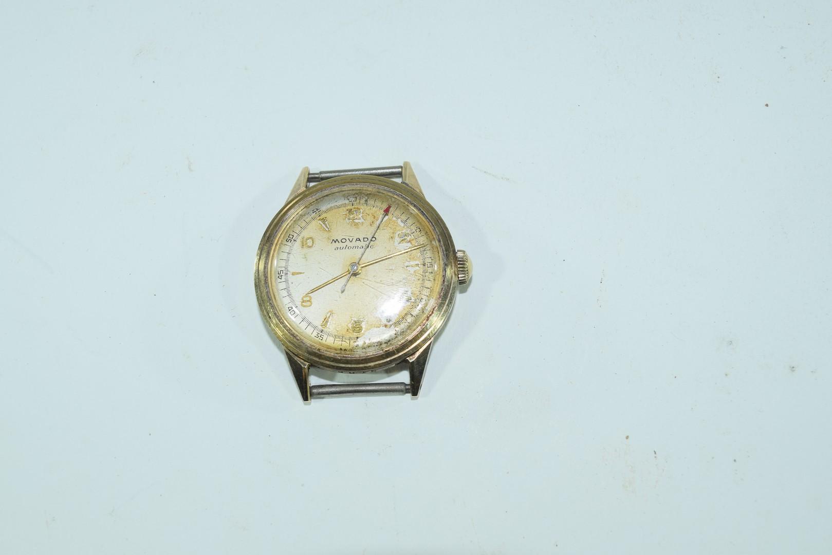 Movado gents yellow metal automatic wrist watch