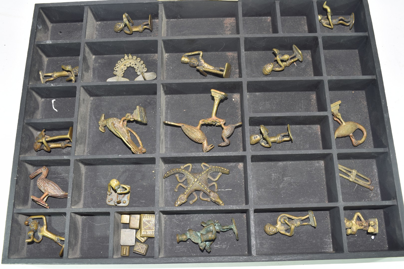 Collection of Ghanaian Ashanti figurative gold weights - Image 2 of 3