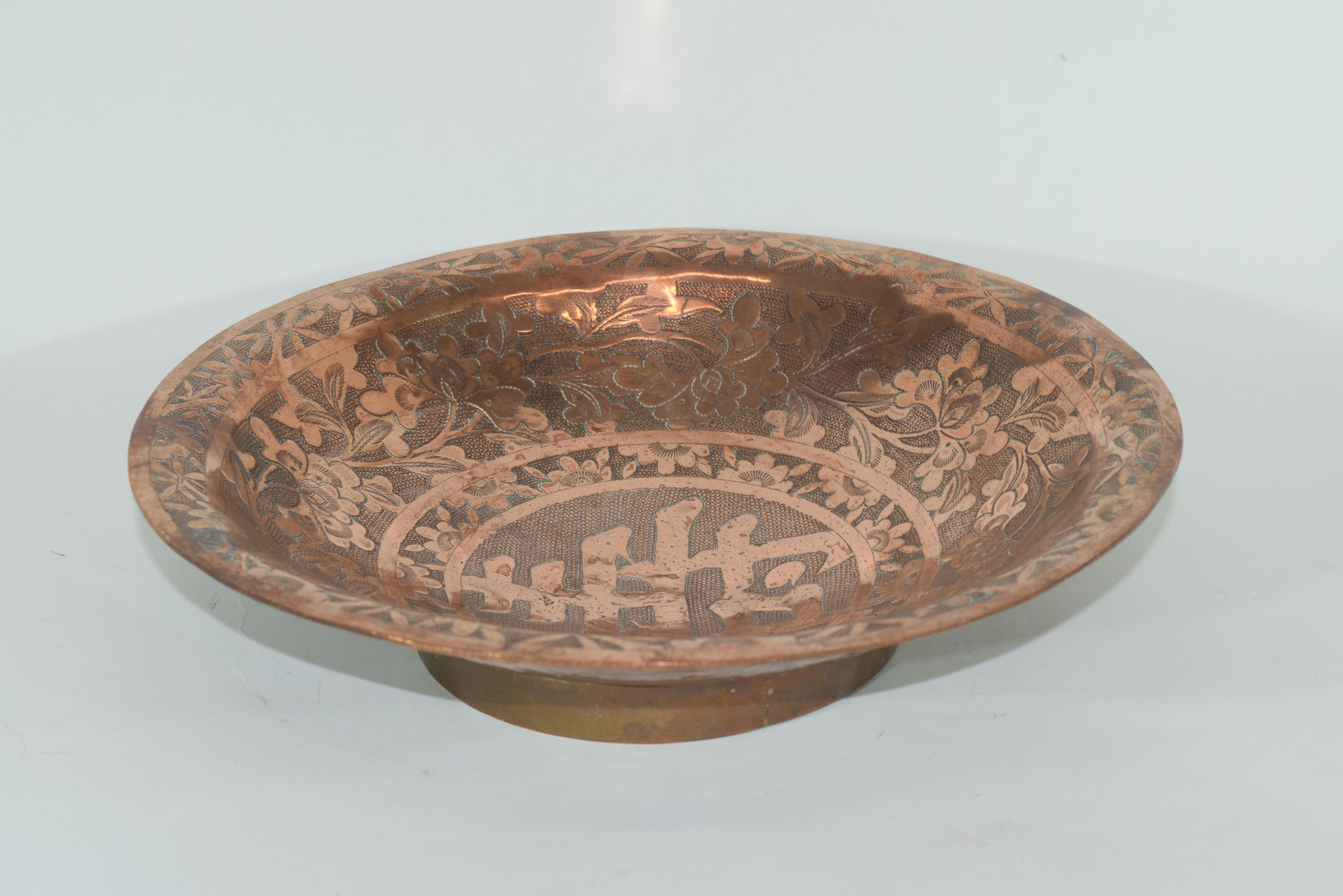 Oriental copper bowl - Image 4 of 7