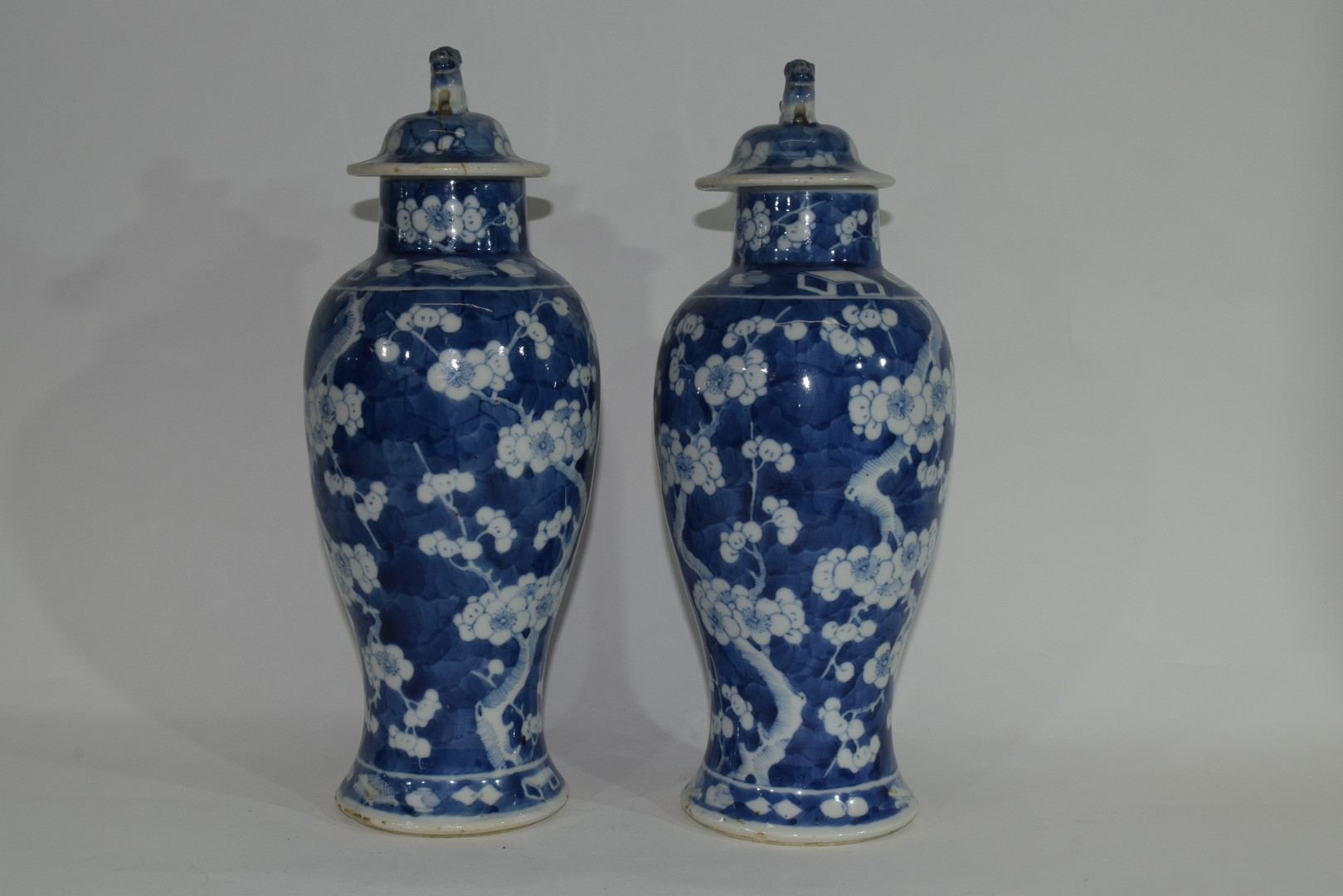 Pair of 19th century Chinese porcelain vases and covers - Image 5 of 9