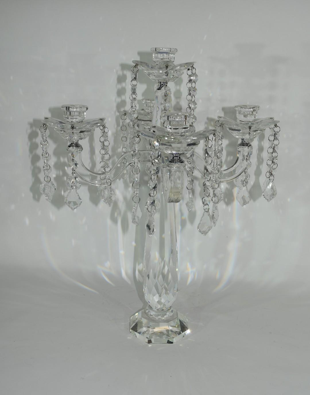 Cut glass candelabra - Image 2 of 3