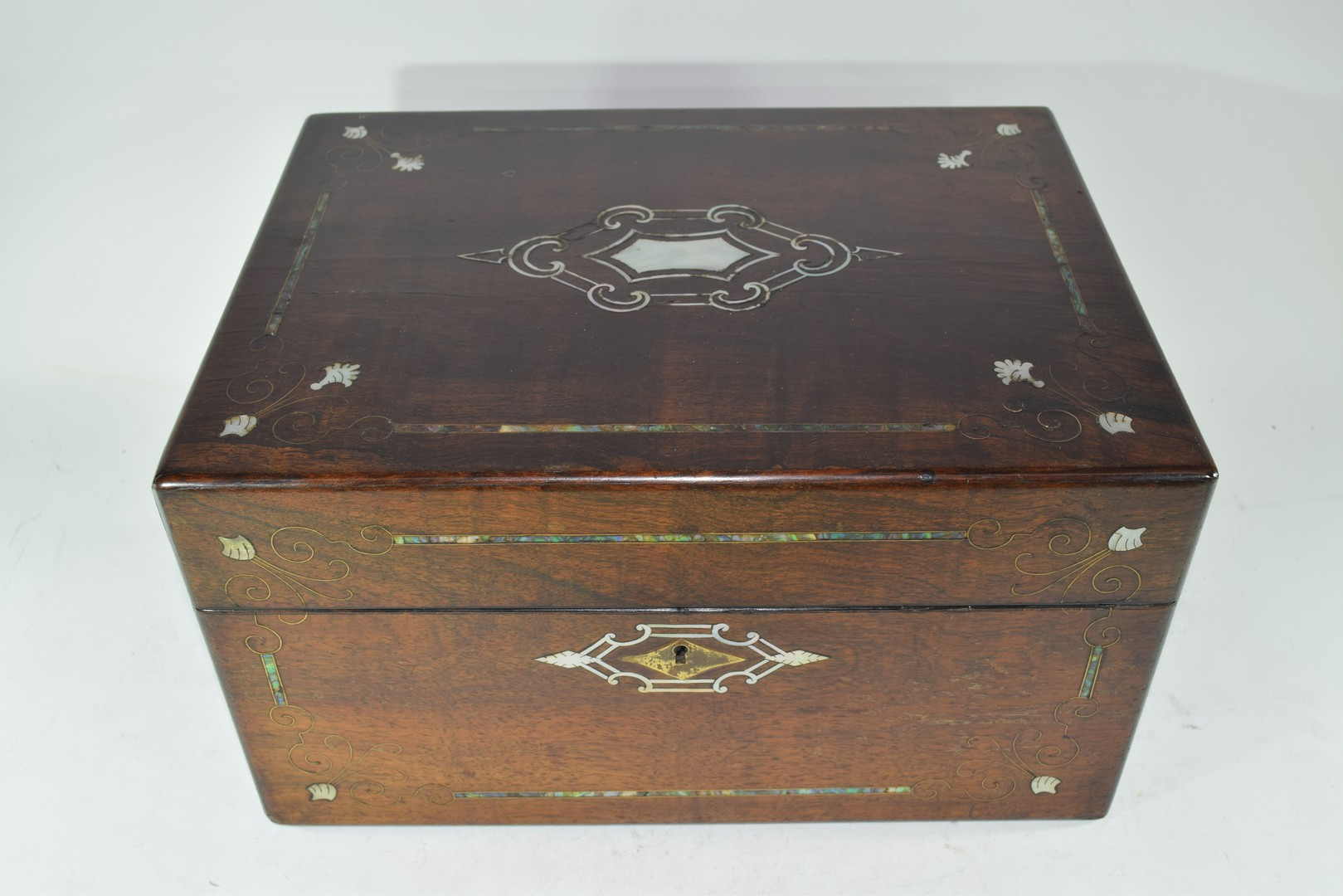 Late Victorian rosewood and mother of pearl - Image 2 of 7