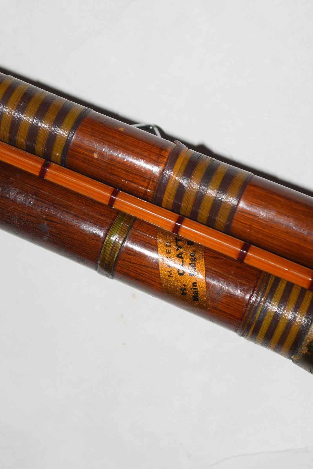 Vintage three-piece fibre glass and cane fishing rod - Image 4 of 4
