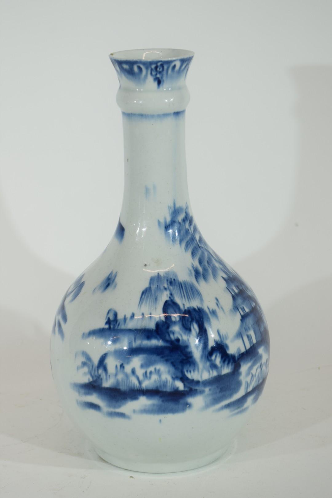 Lowestoft porcelain guglet or water bottle - Image 5 of 7