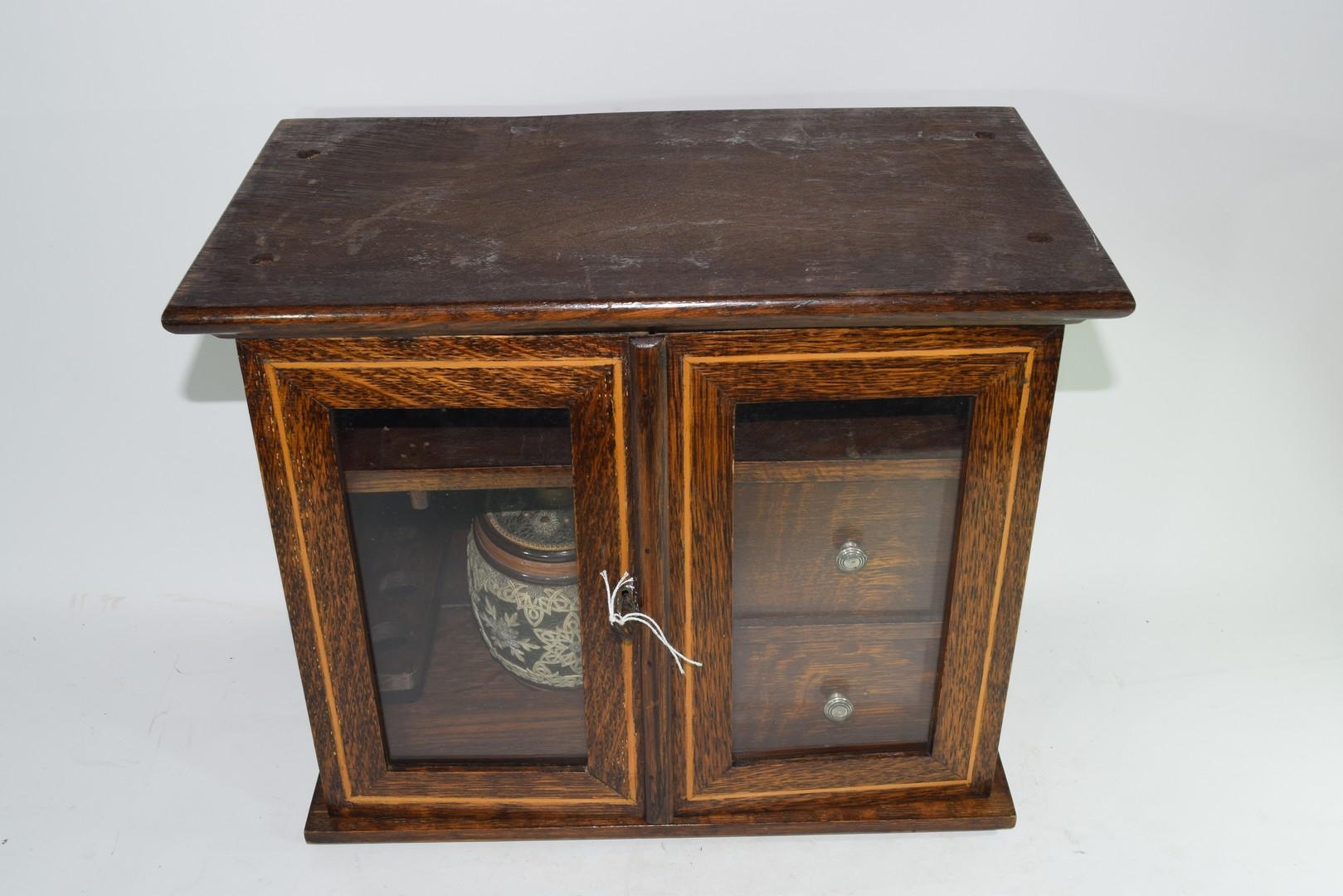 Late 19th century oak smokers cabinet