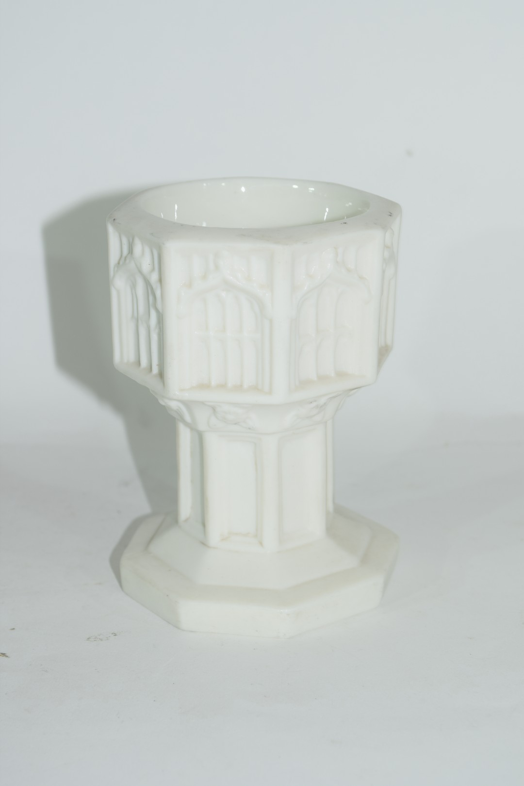 19th century Minton Parian ware model of a font