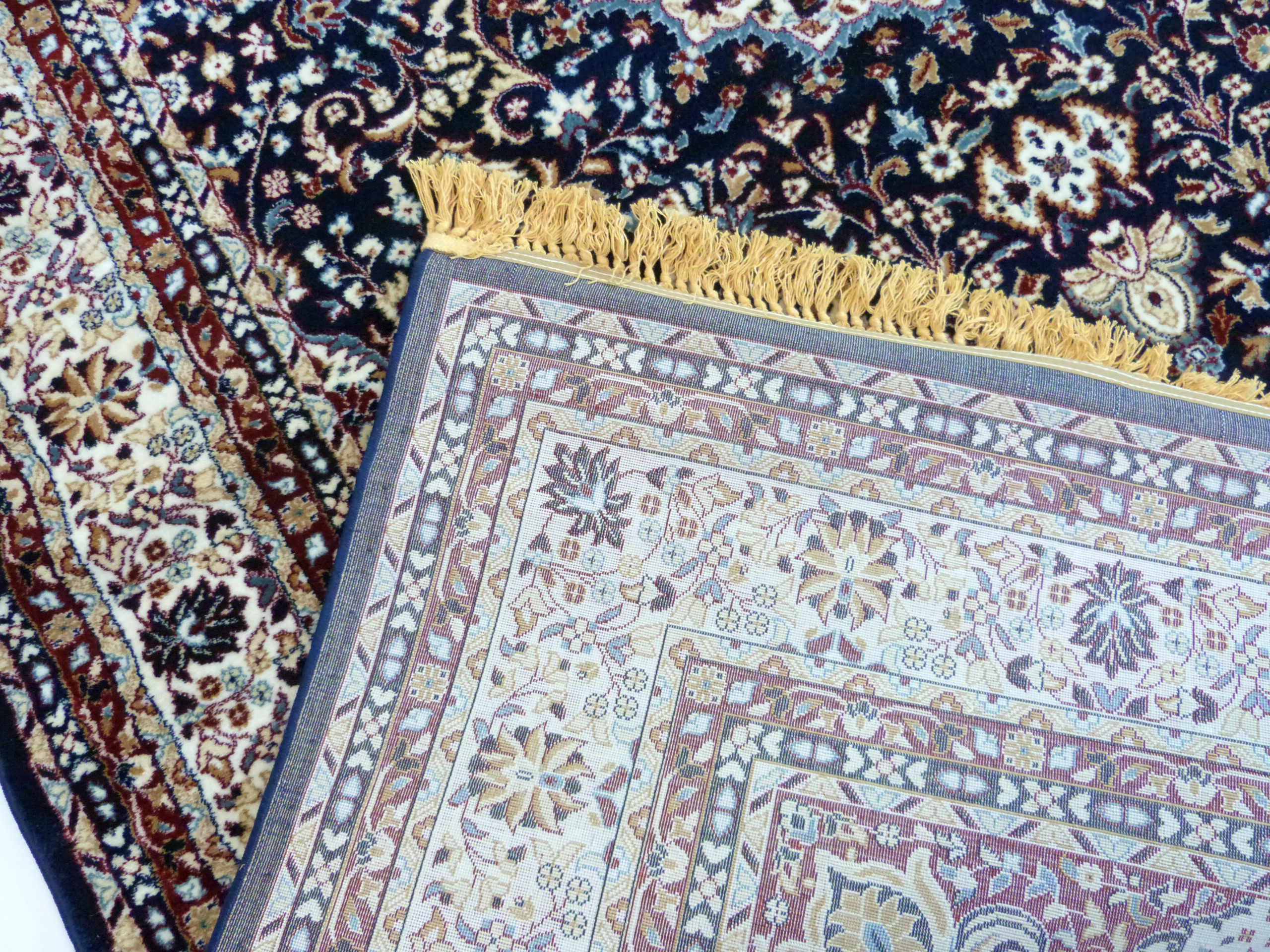 Rich blue ground full pile Turkish Carpet, with floral medallion design 320cm x 200cm approximately - Image 5 of 8