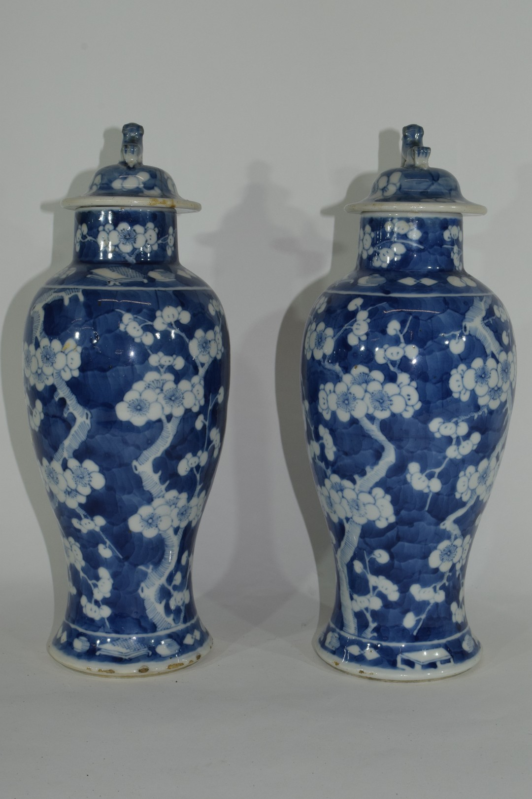 Pair of 19th century Chinese porcelain vases and covers - Image 2 of 9