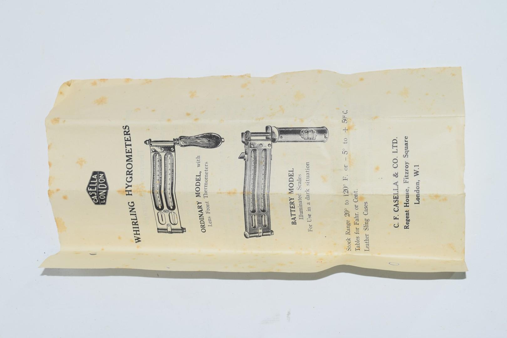 Edney Swing Hygrometer by H Steward Ltd, London - Image 2 of 4