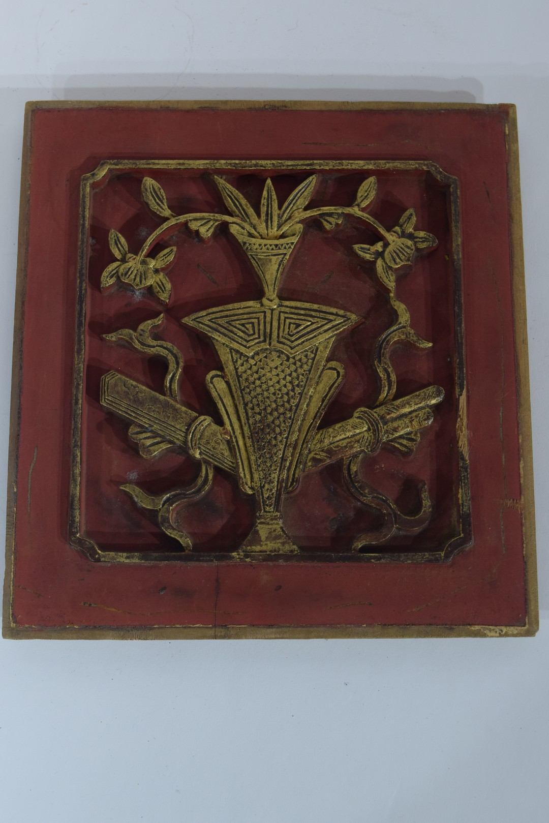Group of seven Oriental wooden panels - Image 15 of 16
