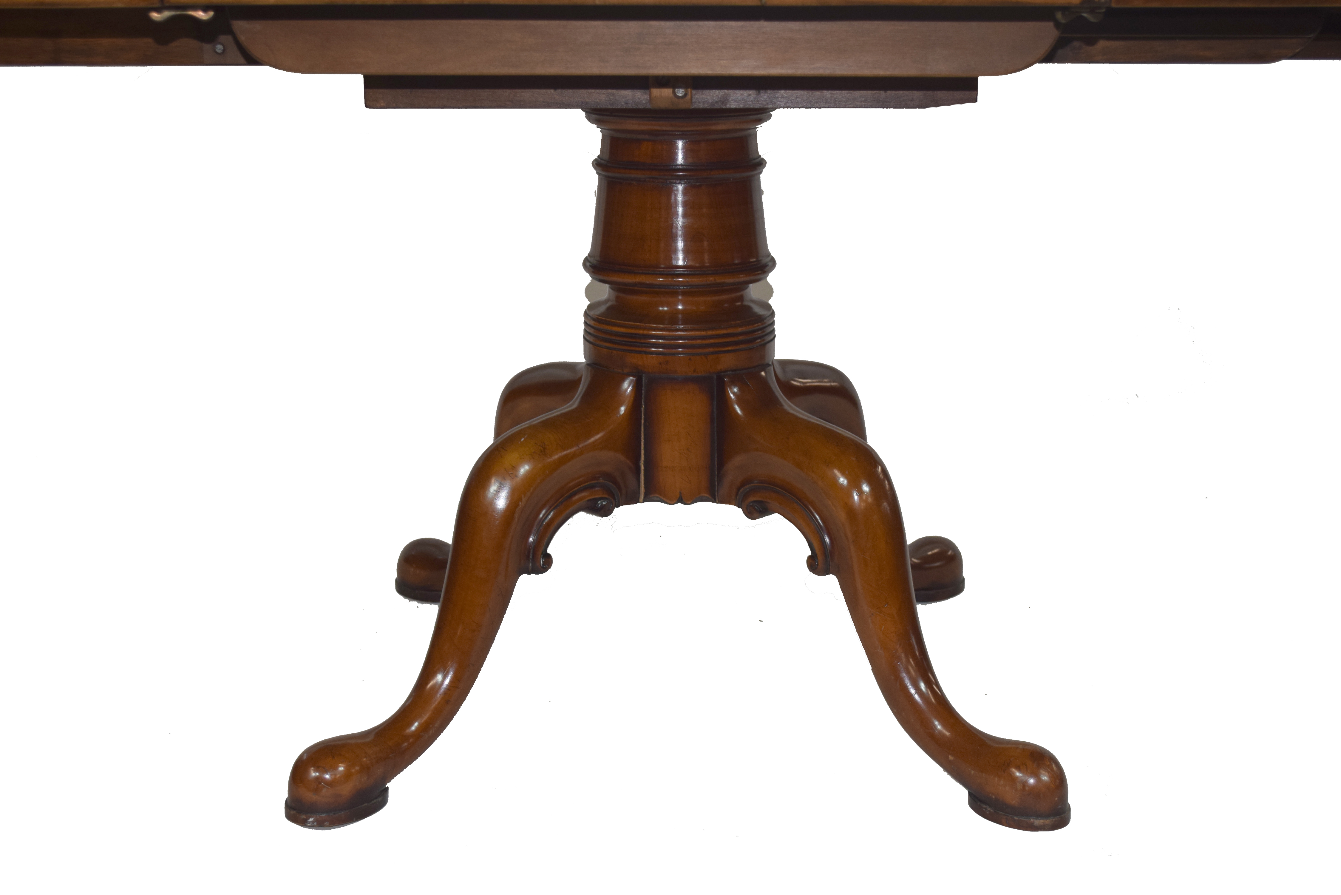 Good quality reproduction cherry wood dining table - Image 2 of 3