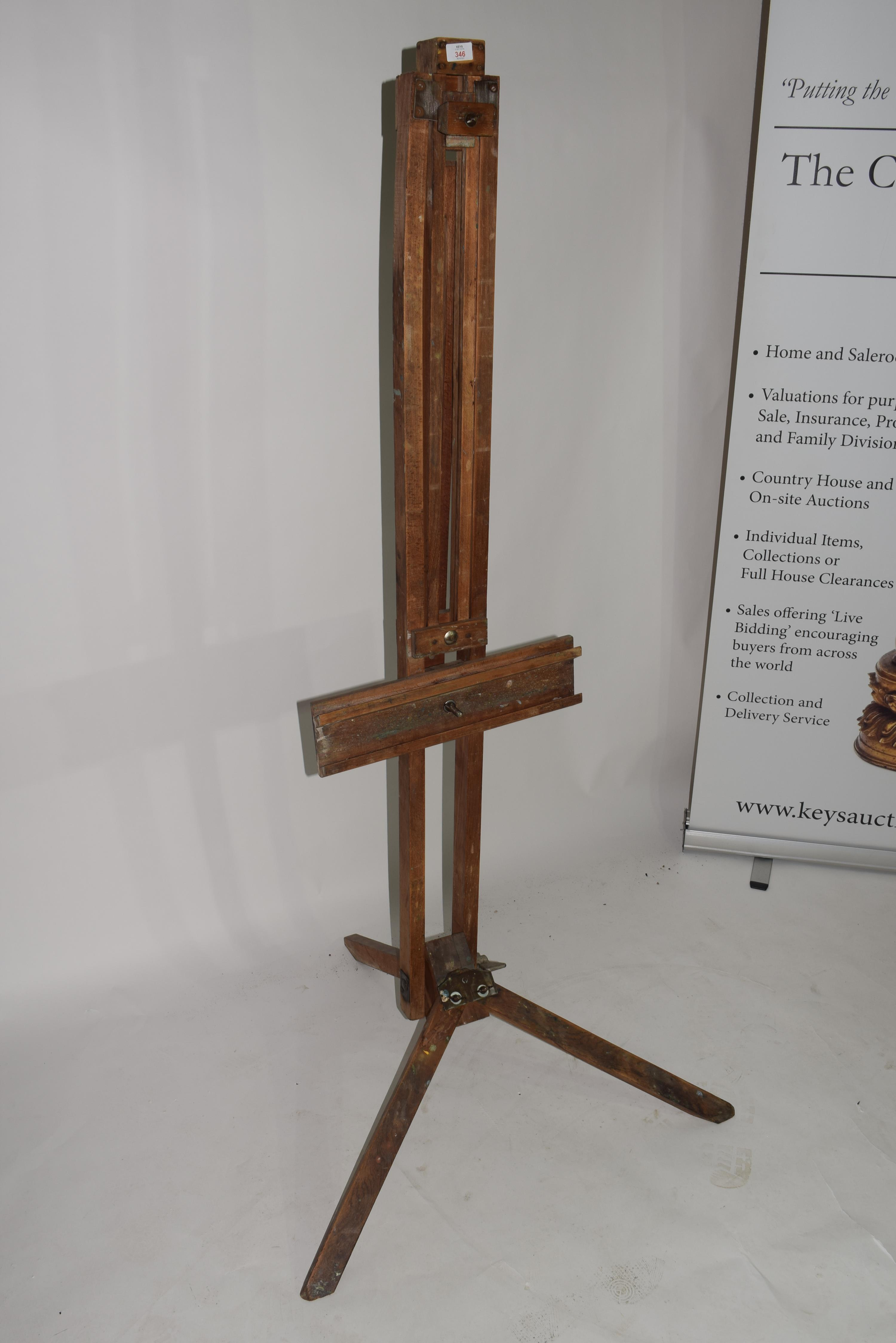 Folding wooden artists easel - Image 3 of 3
