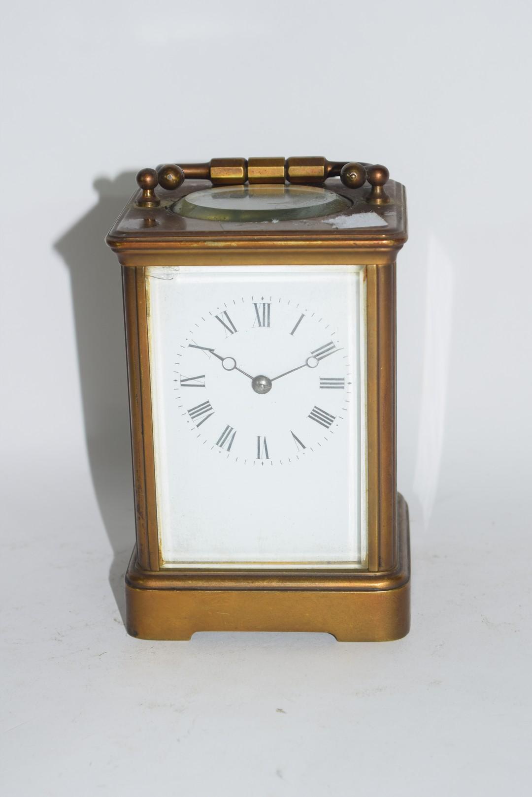 Brass carriage clock