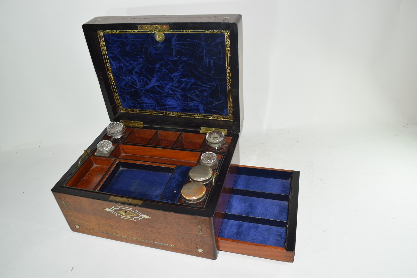 Late Victorian rosewood and mother of pearl