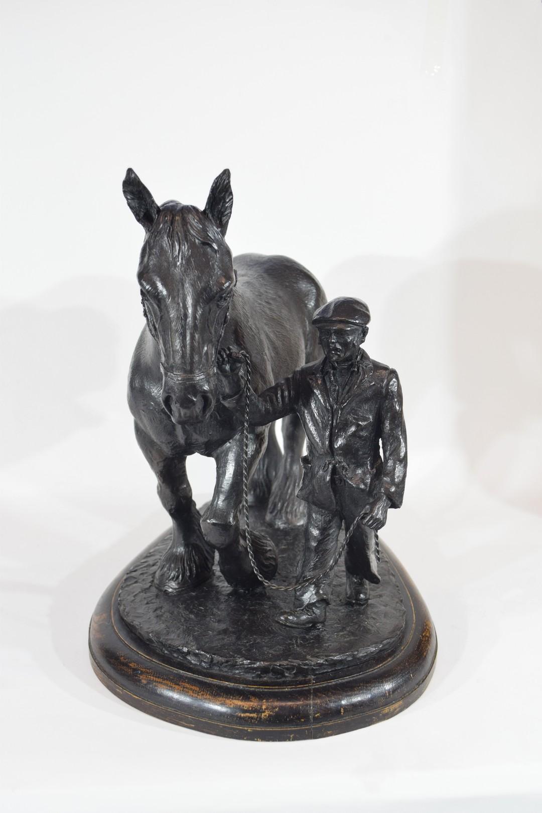 Brian Elton, bronzed resin figure 'The Ploughman' - Image 3 of 5