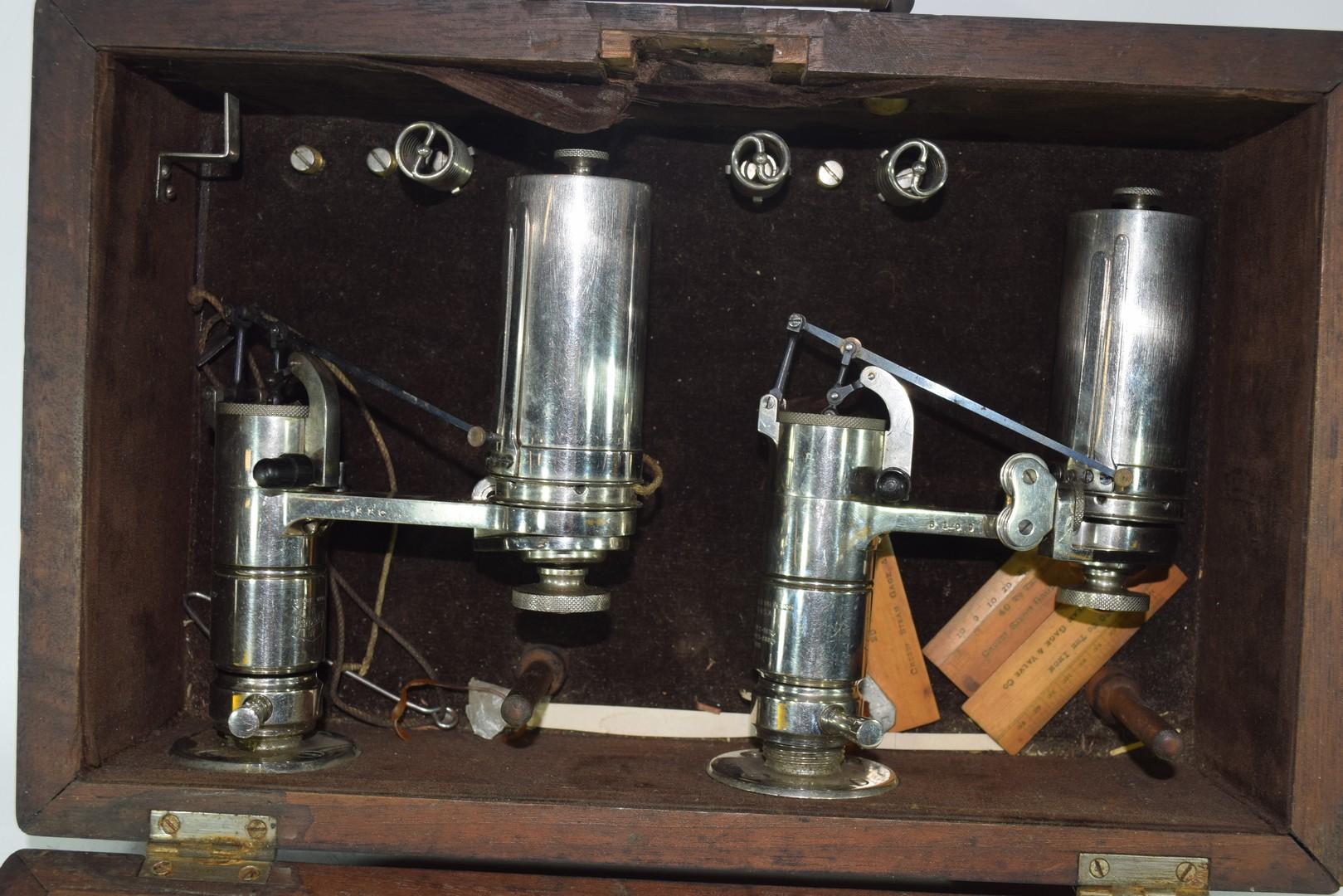 Crosby Steam Gauge and Valve Co of Boston, Massachusetts, hardwood cased steam engine indicator - Image 3 of 3