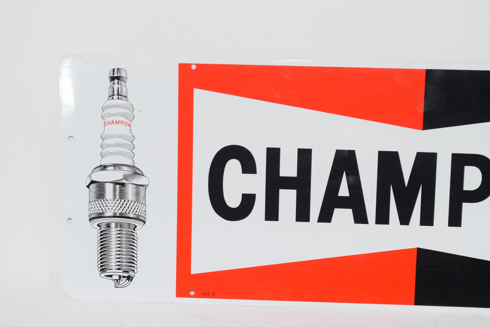 Two metal signs advertising Champion spark plugs - Image 3 of 5