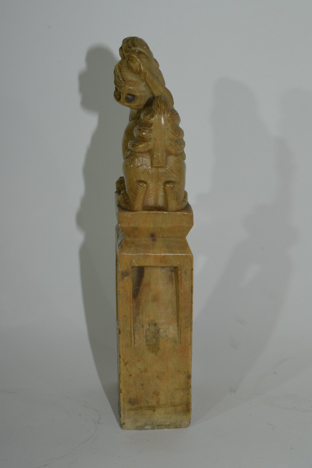Oriental soapstone figure with a dog of Fo - Image 2 of 6