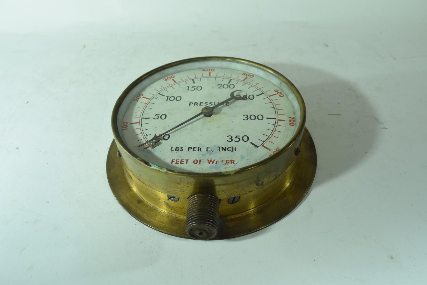 Vintage brass cased pressure gauge - Image 2 of 4