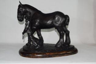 Brian Elton, bronzed resin figure 'The Ploughman'