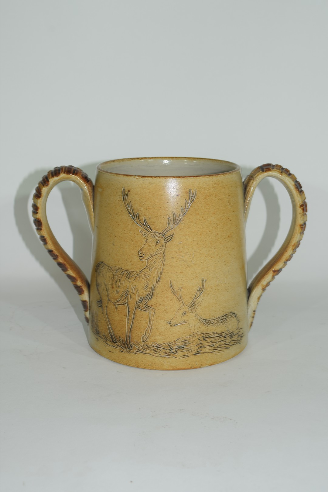 Smith & Co salt glazed two handled mug or tyg