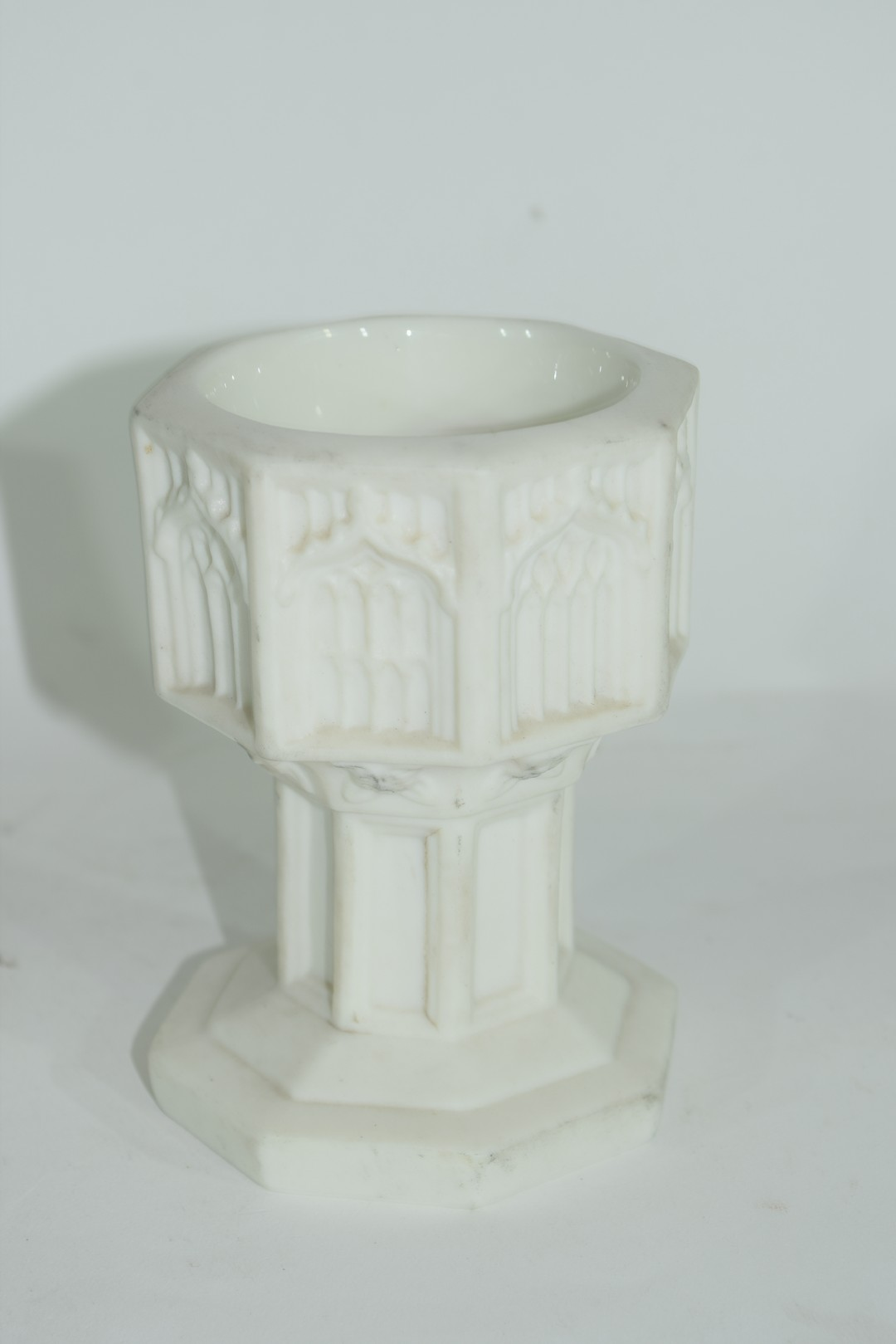 19th century Minton Parian ware model of a font - Image 3 of 7