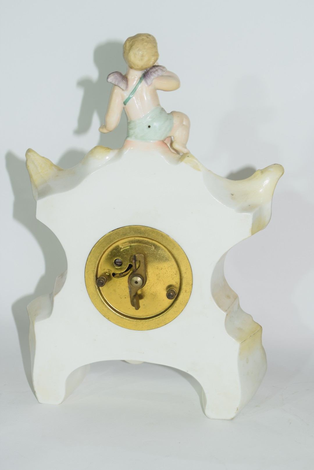 Three examples of Continental porcelain clock mantel cases - Image 9 of 9