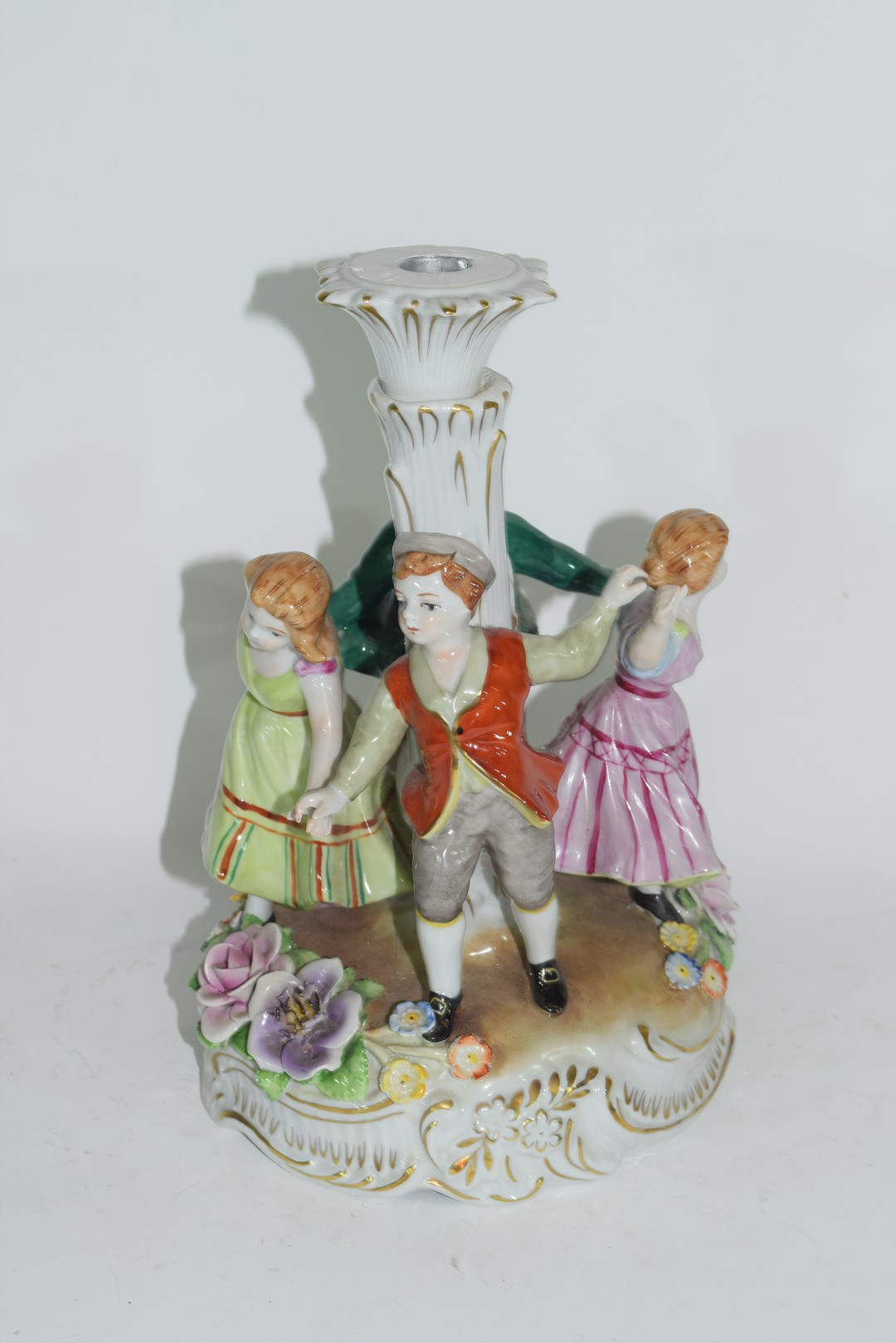 Continental porcelain candlestick in Meissen style - Image 2 of 4