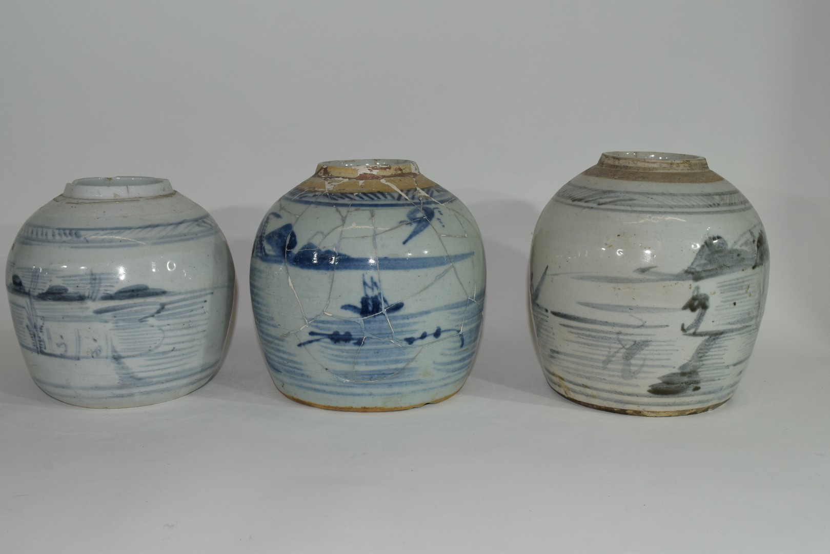 Group of three Provincial Oriental jars - Image 2 of 7