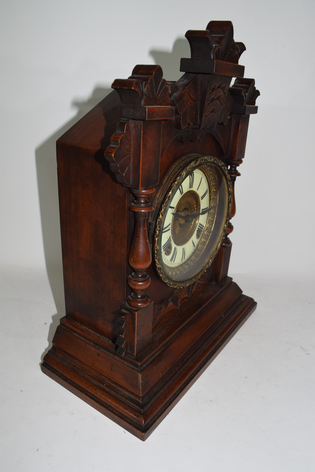 Late 19th century mantel clock by Ansona of New York - Image 2 of 6