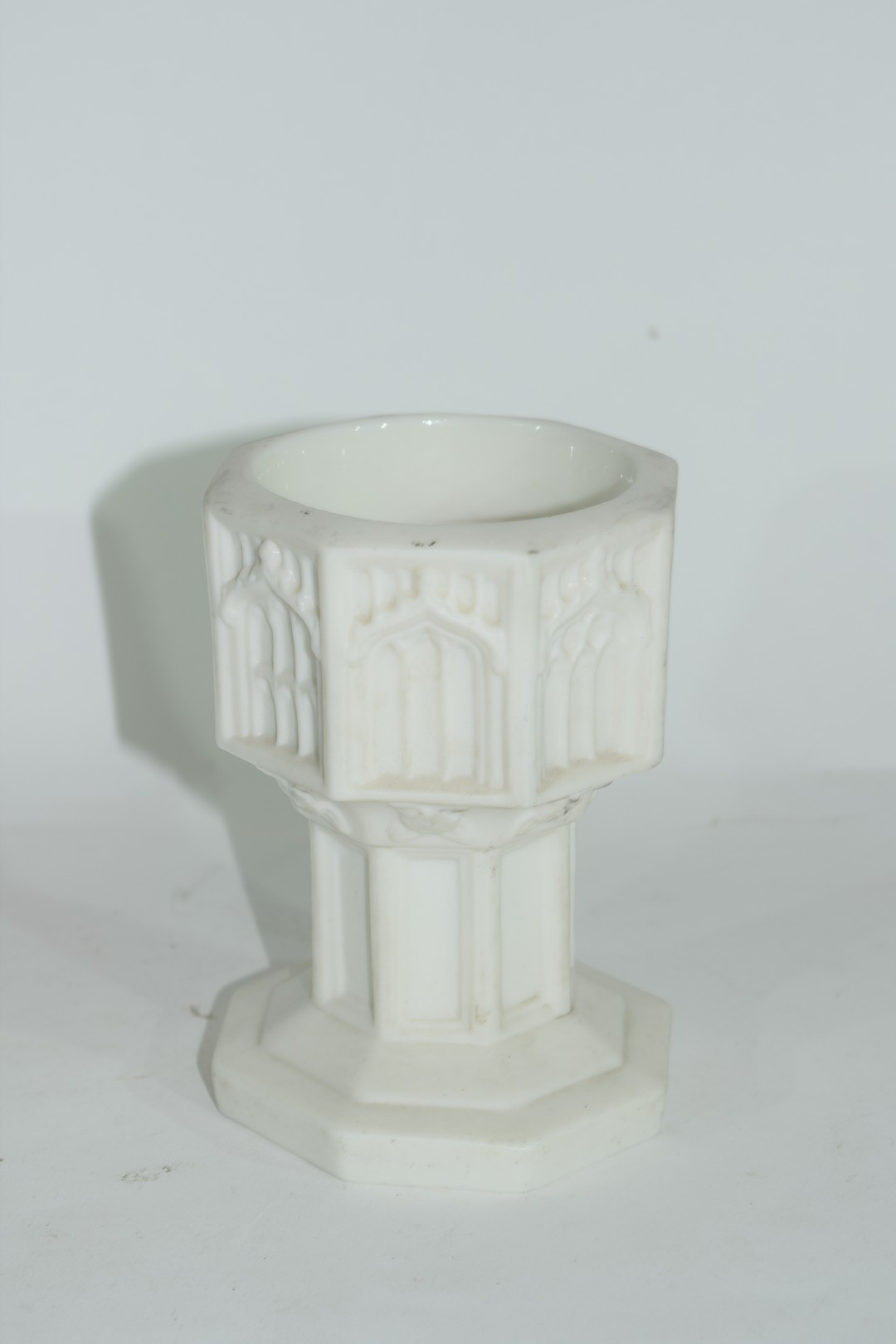 19th century Minton Parian ware model of a font - Image 2 of 7