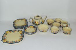 Clarice Cliff Bizarre tea set