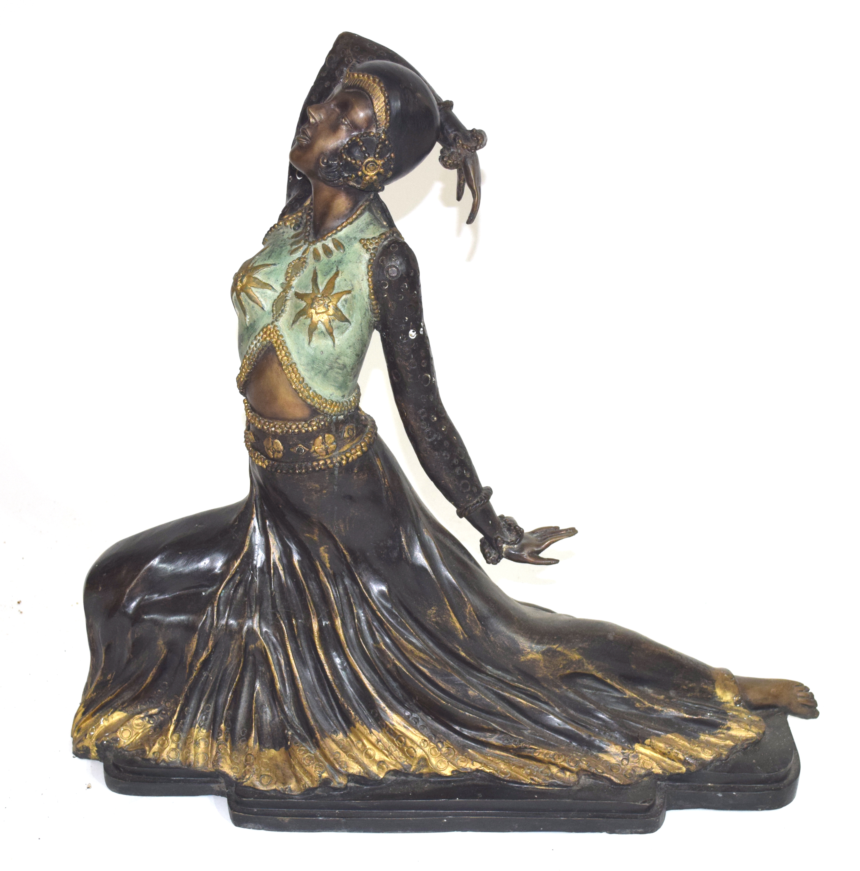 Large and impressive bronze cast model of a Far Eastern, possibly Balinese, dancer,early to mid 20th