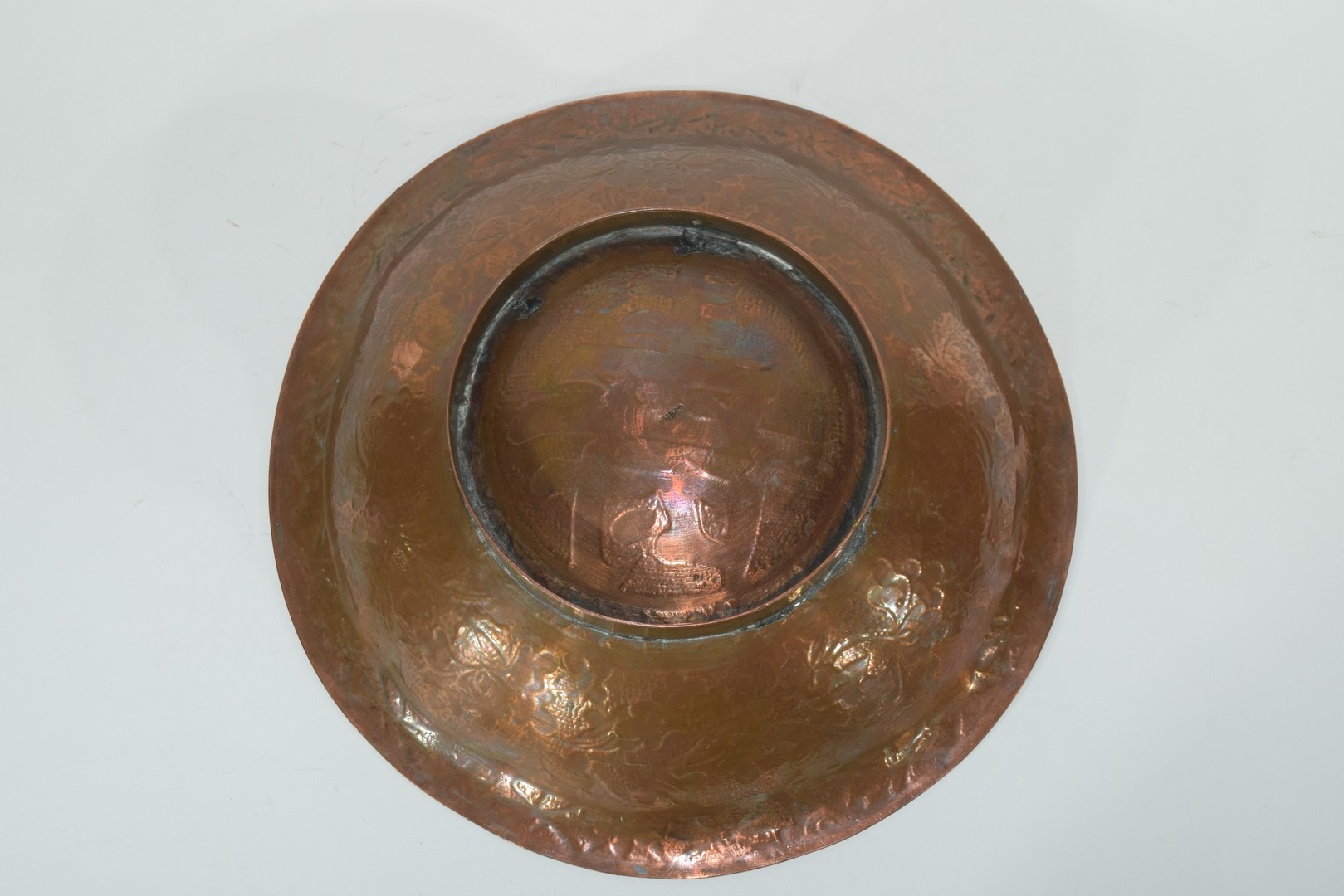 Oriental copper bowl - Image 7 of 7