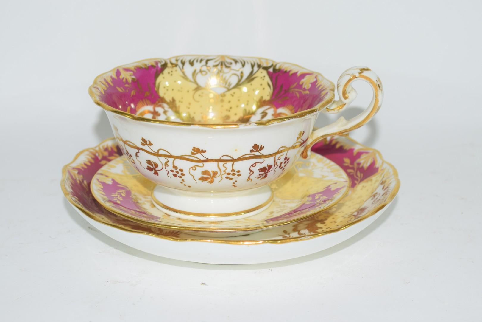 English porcelain trio