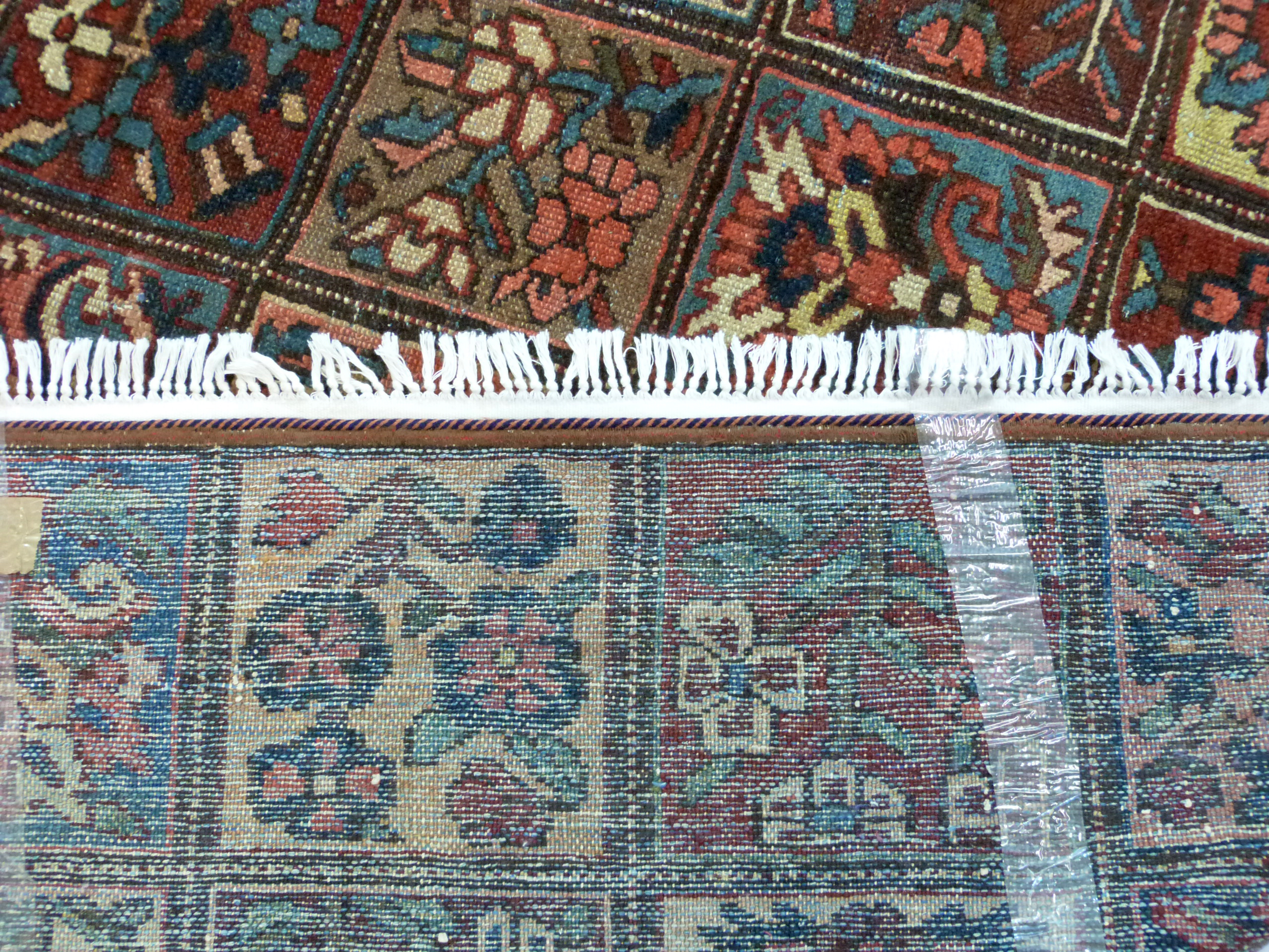 Vintage Persian Baktia Carpet, with all-over panelled design 260cm x 167cm approximately - Image 6 of 7