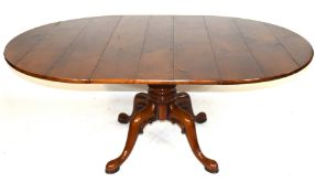 Good quality reproduction cherry wood dining table