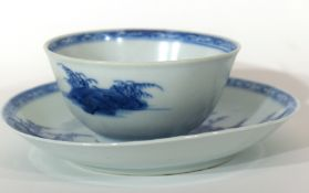 18th century Chinese porcelain Nanking Cargo tea bowl and saucer