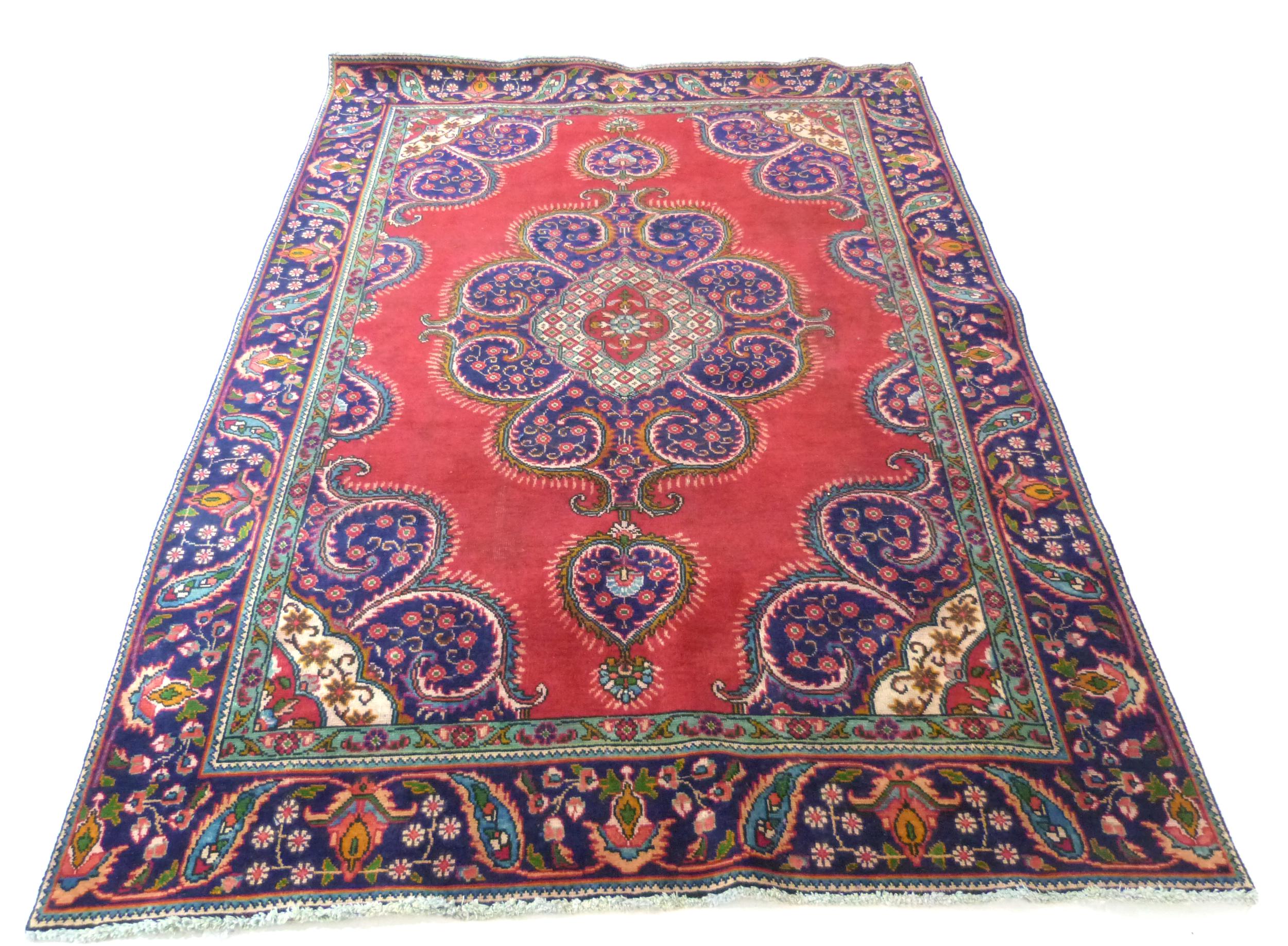 Deep ground thick pile Persian Narouan Carpet,decorated with various motifs & symbols 276cm x