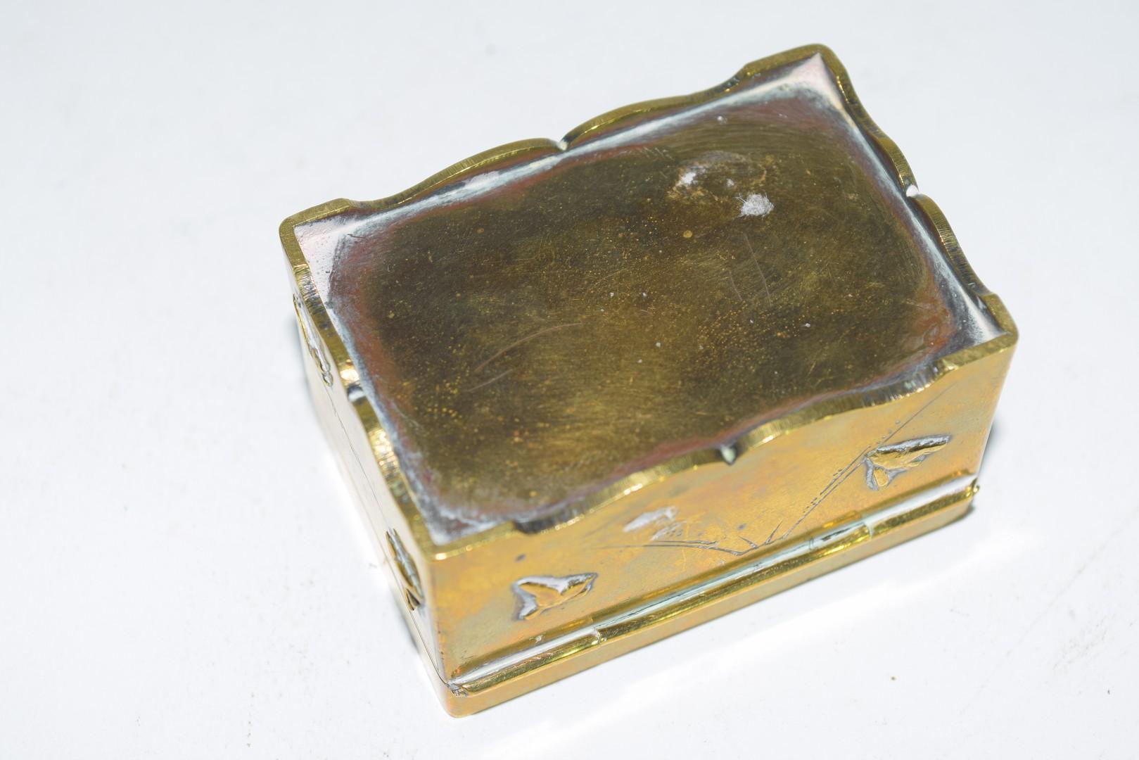 Small Chinese brass box - Image 5 of 6