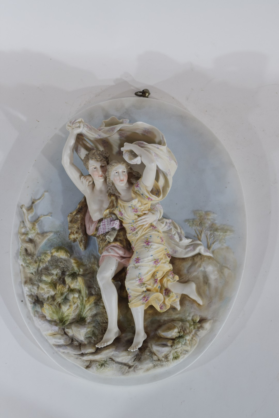 Continental late 19th century porcelain plaque - Image 2 of 3