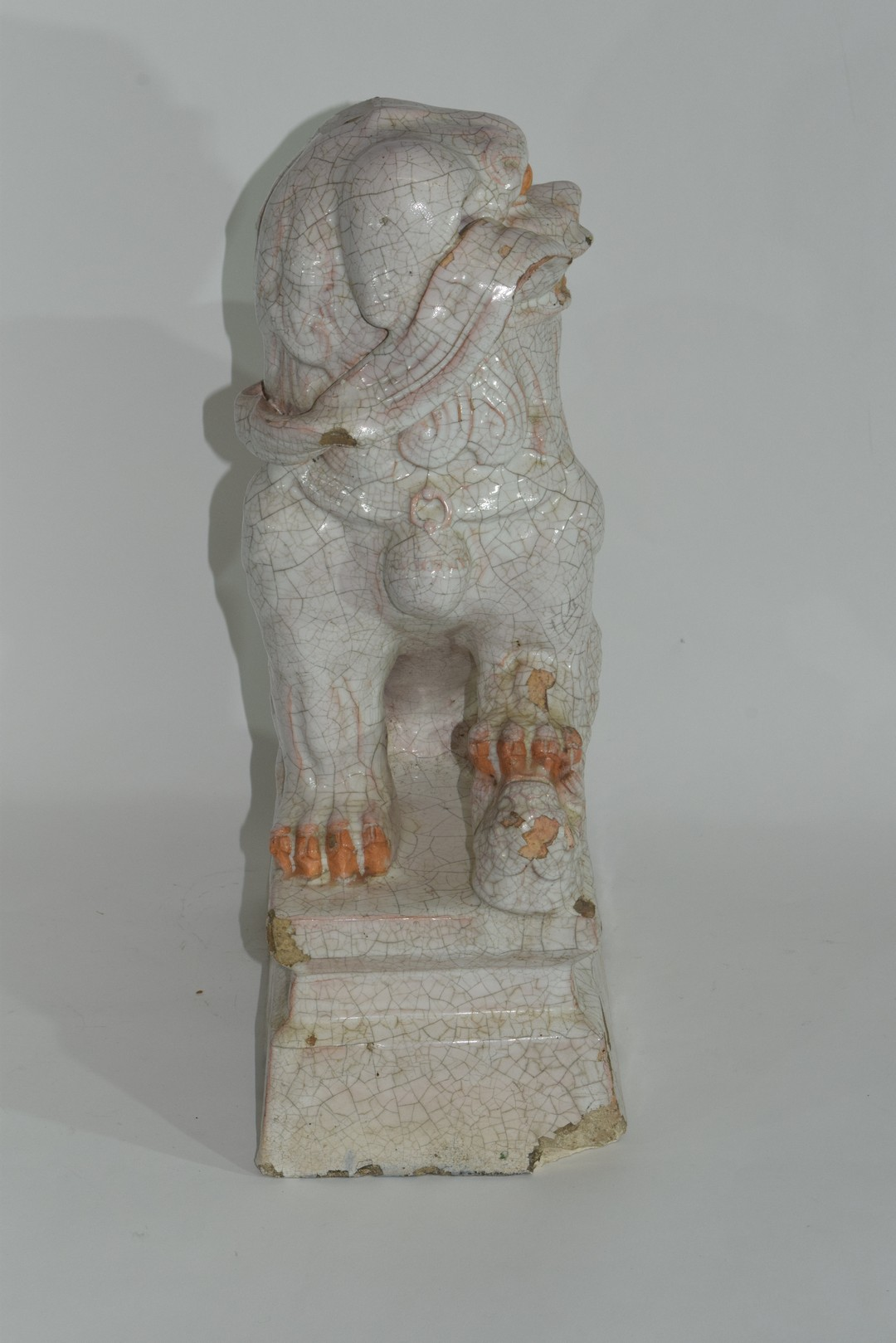 Oriental pottery figure of dog of Fo - Image 7 of 8