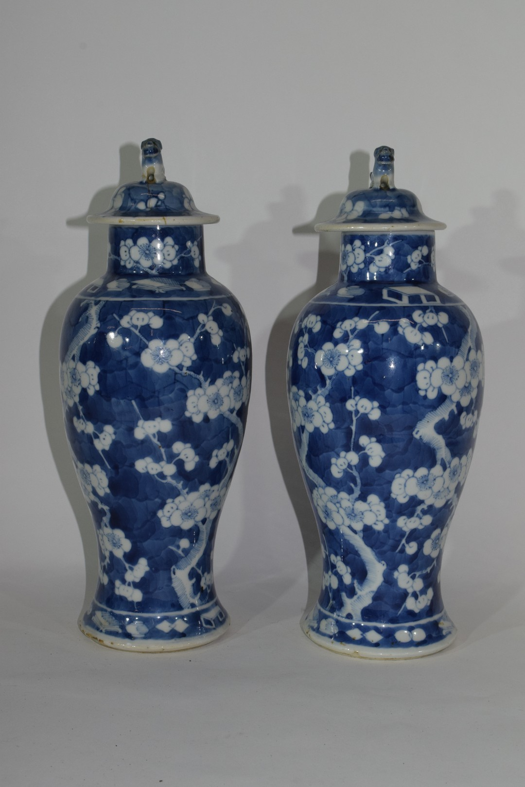 Pair of 19th century Chinese porcelain vases and covers - Image 4 of 9