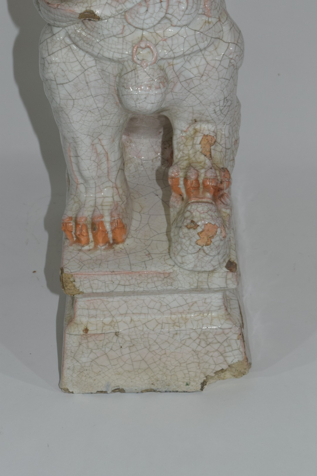 Oriental pottery figure of dog of Fo - Image 8 of 8