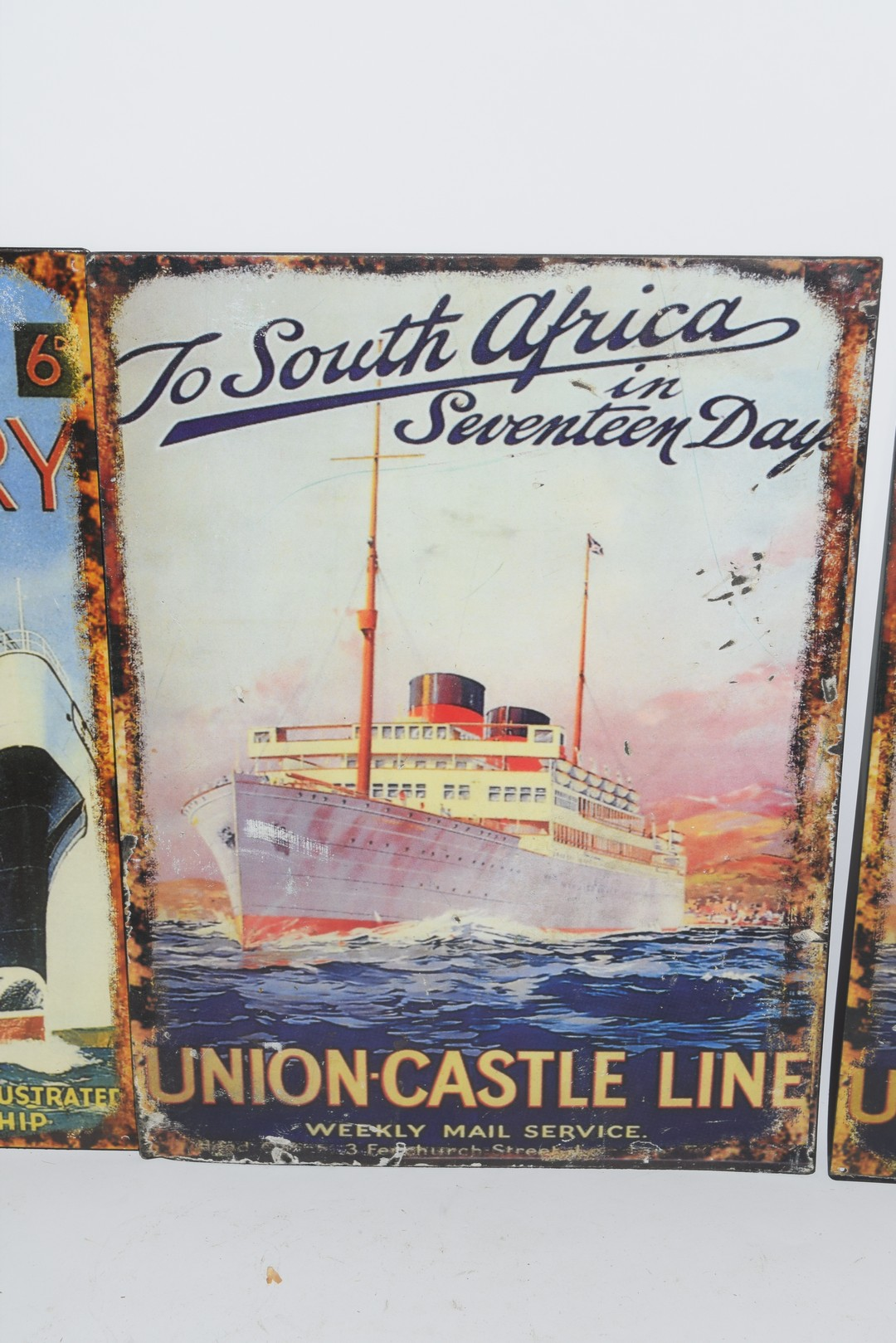 Three enamel reproduction posters - Image 3 of 4