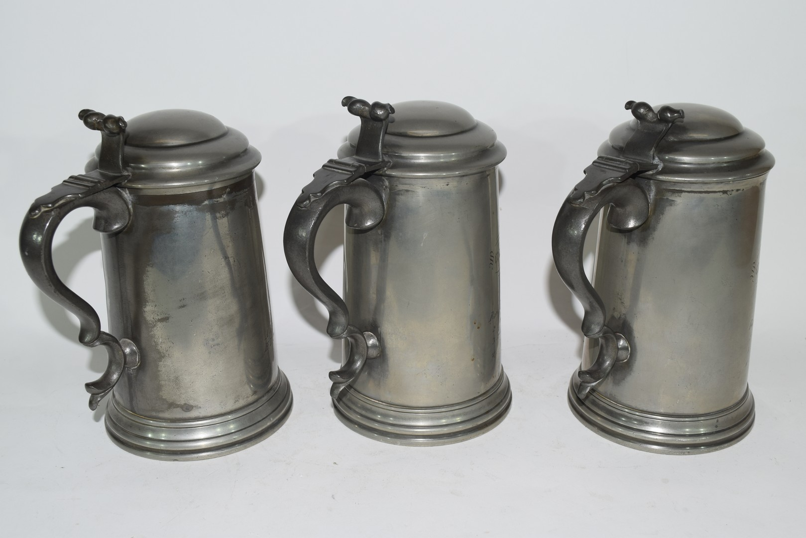 Three pewter tankards from Christchurch College, Oxford - Image 3 of 4