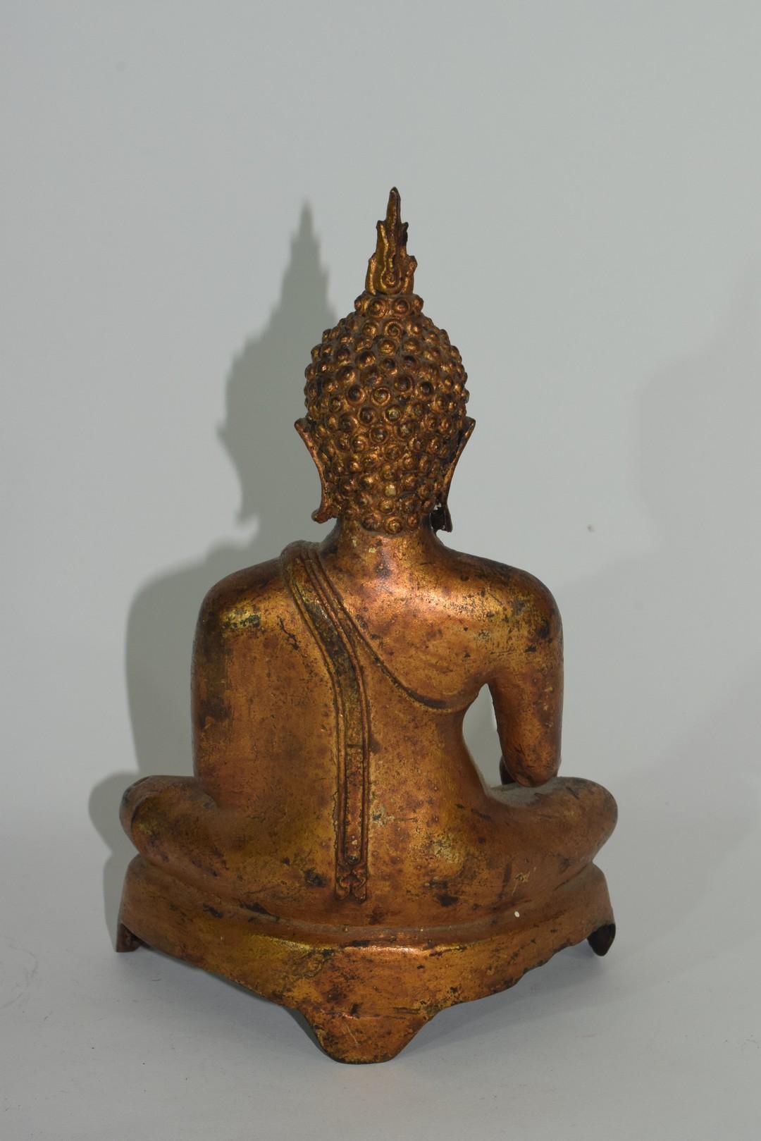 Metal figure of a Buddha - Image 3 of 6