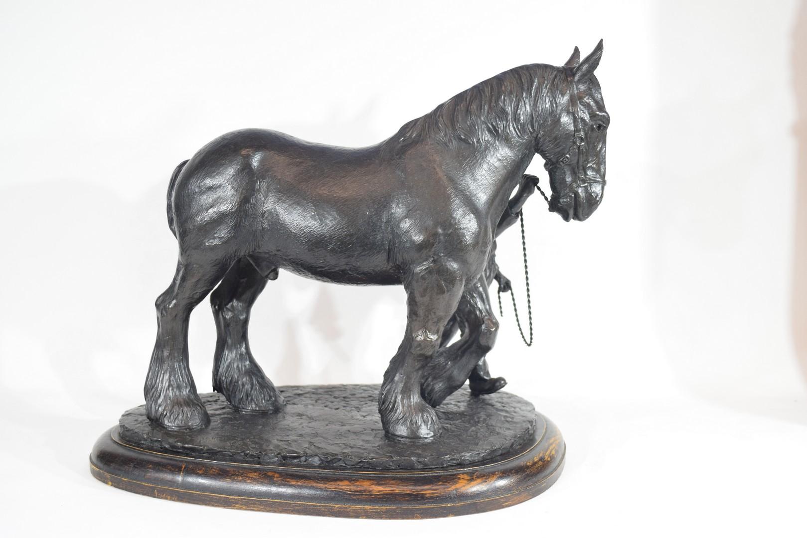 Brian Elton, bronzed resin figure 'The Ploughman' - Image 4 of 5